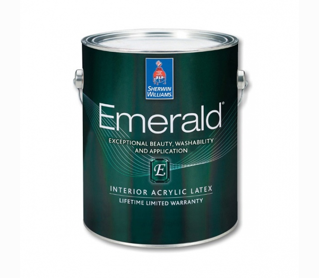 Интерьерная краска Sherwin Williams EMERALD Interior Acrylic Latex Paint Matte/Satin