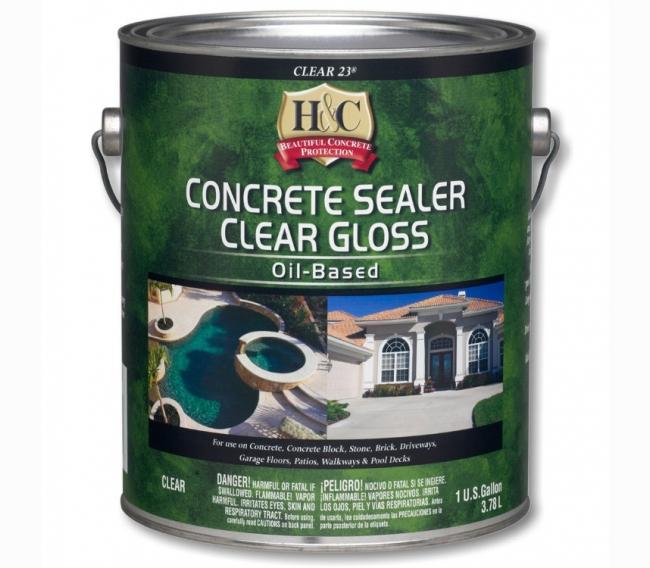 Силикон-акриловый лак Sherwin Williams H&C Concrete Sealer Clear Gloss Oil-based