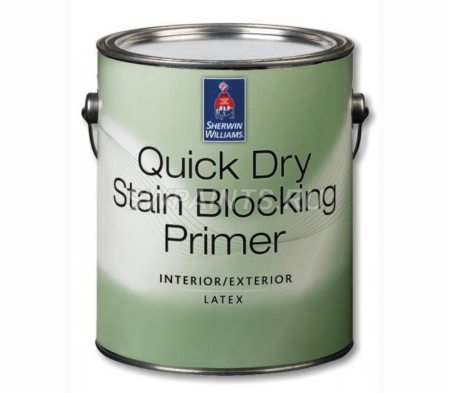 Интерьерная краска Sherwin Williams Quick Dry Stain Blocking Primer Interior and Exterior Latex
