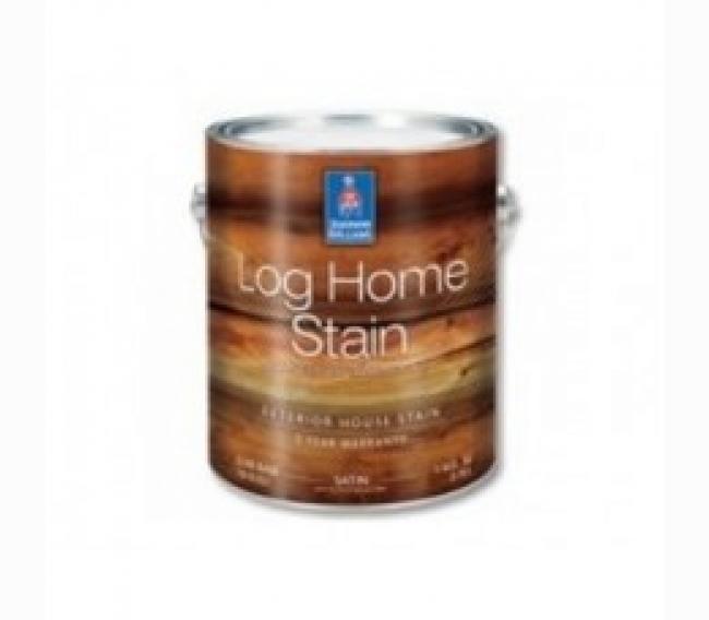 Пропитка Sherwin Williams LOG HOME Exterior Waterborne Satin Semi-Transparent Stain