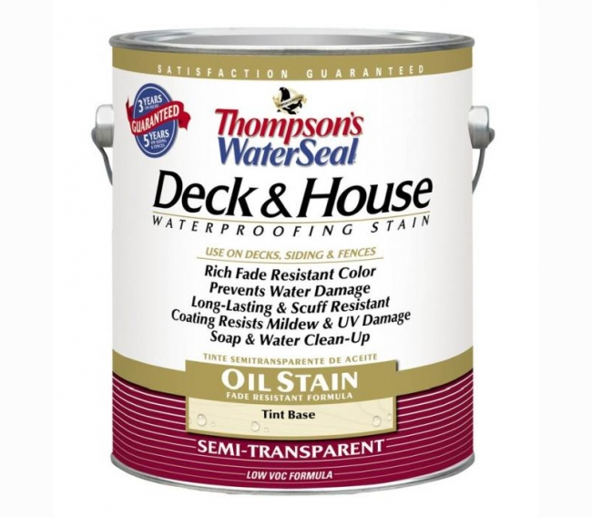 Покрытие Sherwin Williams Thompsons WaterSeal Deck & House Semi-Transparent Oil Waterproofing Stain