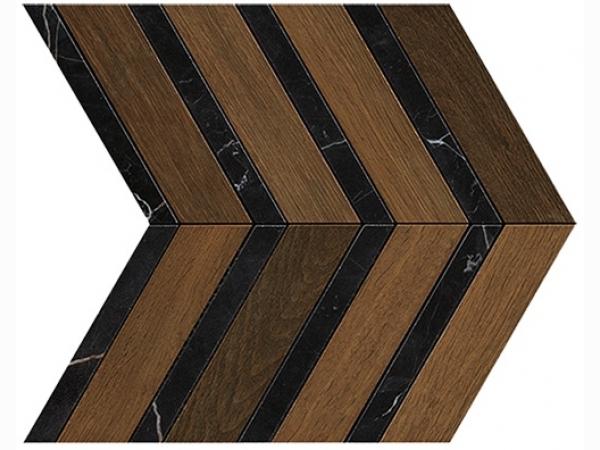 Мозаика HEARTWOOD MOKA MARBLE CHEVRON, 29,4x28,7 +31370