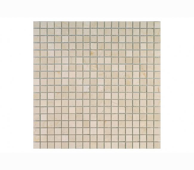 Каменная мозаика м CREMA MARFIL POL 15x15х4 мм