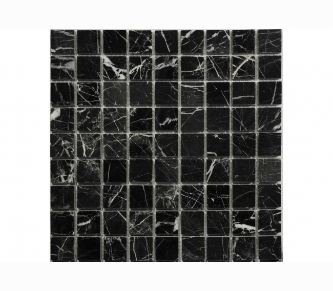 Каменная мозаика ORRO STONE м NERO MARQUINA POL 30x30х7 мм