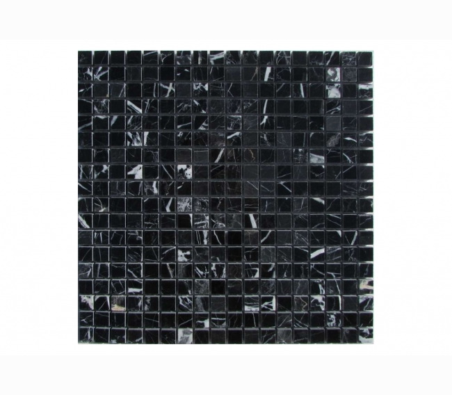 Каменная мозаика ORRO STONE м NERO MARQUINA POL 15x15х4 мм