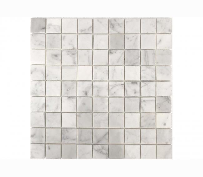Каменная мозаика м BIANCO CARRARA POL 30x30х7 мм