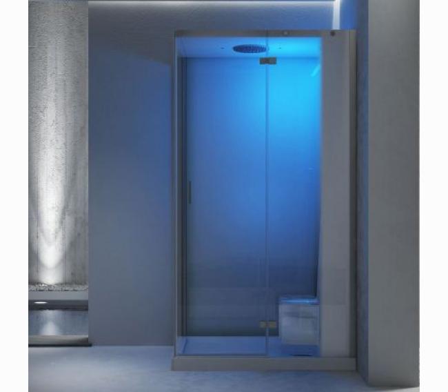Душевая кабина, 140x90xh220см, Sx, термостатный смеситель, раздвижная дверь, цвет: белый/хром Jacuzzi Cloud 140 Home spa 9448-325A Sx